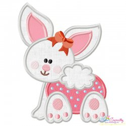 Baby Bunny Girl-1 Applique Design