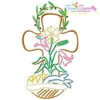 Satin Stitch Cross-10 Embroidery Design