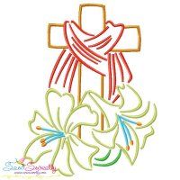 Satin Stitch Cross-8 Embroidery Design