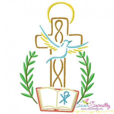 Satin Stitch Cross-9 Embroidery Design