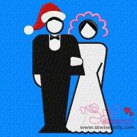 Christmas Bride And Groom Embroidery Design