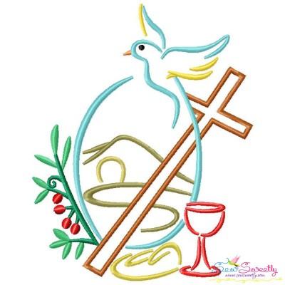 Satin Stitch Cross-4 Embroidery Design