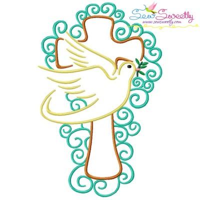 Satin Stitch Cross-3 Embroidery Design