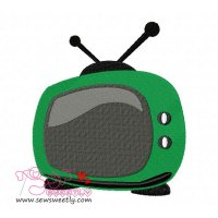 Television Embroidery Design