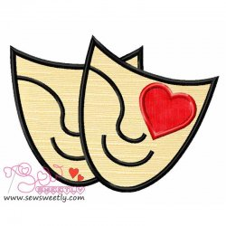 Movie Genre Romance Applique Design