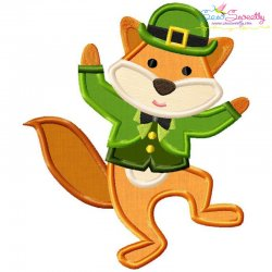 St. Patrick's Day Lucky Fox Applique Design