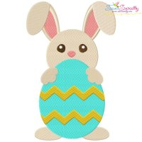 Easter Bunny With Egg-4 Embroidery Design
