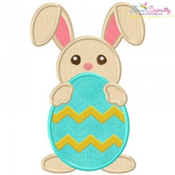 Easter Bunny With Egg-4 Applique Design