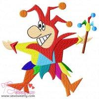 Happy Clown Embroidery Design