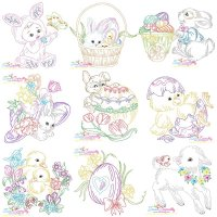 Easter Colorwork Designs Embroidery Design Bundle