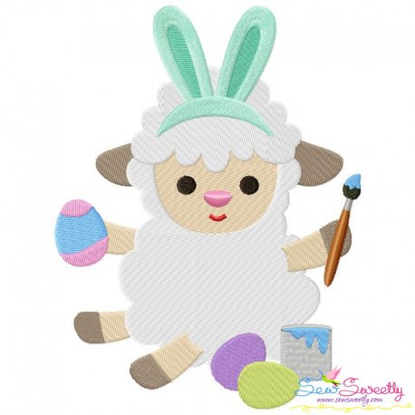 Easter Sheep-1 Embroidery Design