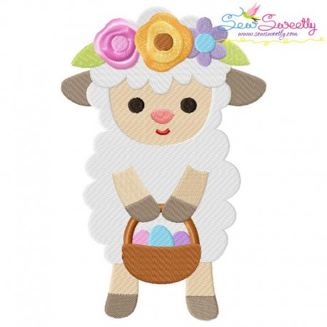 Baby Easter Sheep-2 Embroidery Design