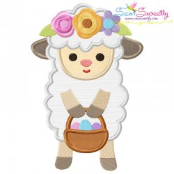 Baby Easter Sheep-2 Applique Design