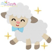 Baby Easter Sheep-3 Embroidery Design