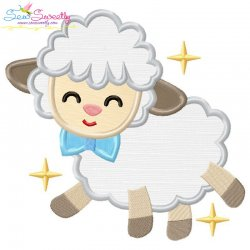Baby Easter Sheep-3 Applique Design