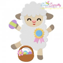 Baby Easter Sheep-4 Embroidery Design