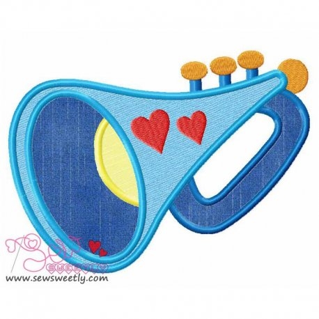 Music Instrument-6 Applique Design