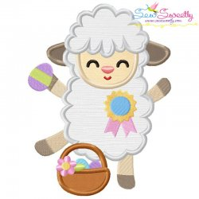 Baby Easter Sheep-4 Applique Design