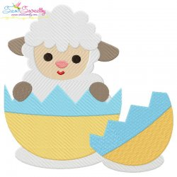 Baby Easter Sheep-5 Embroidery Design