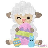 Baby Easter Sheep-6 Embroidery Design
