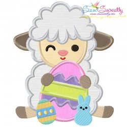 Baby Easter Sheep-6 Applique Design
