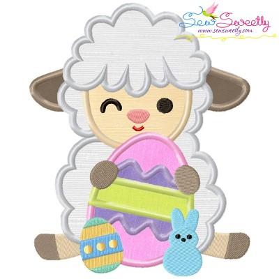 Baby Easter Sheep-6 Applique Design