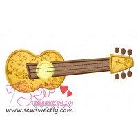 Music Instrument-4 Applique Design