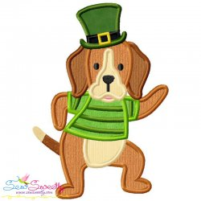 St. Patrick's Day Lucky Dog Applique Design Pattern- Category- St. Patrick's Day Designs- 1
