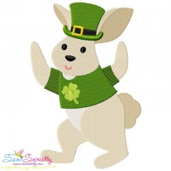 St. Patrick's Day Lucky Rabbit Embroidery Design Pattern- Category- St. Patrick's Day Designs- 1