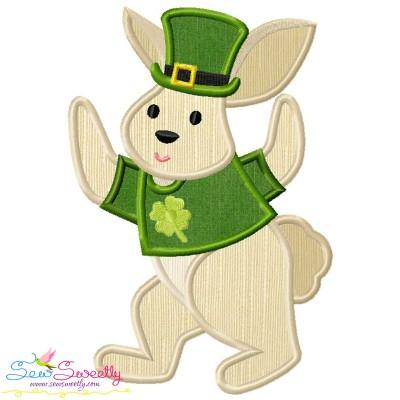 St. Patrick's Day Lucky Rabbit Applique Design