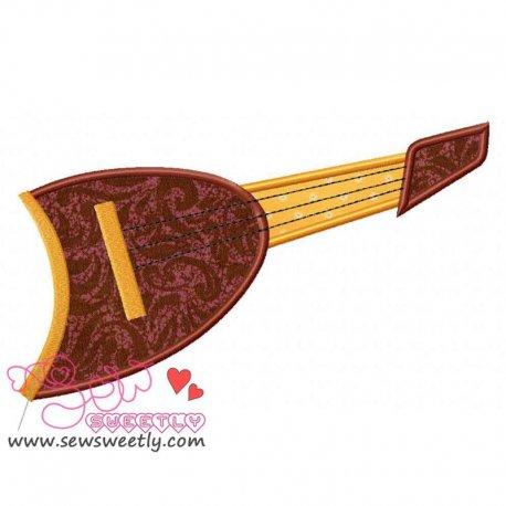 Music Instrument-3 Applique Design