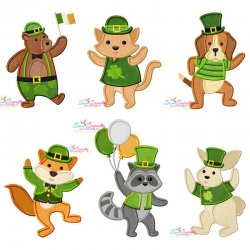 St. Patrick's Day Lucky Animals Embroidery/Applique Design Bundle