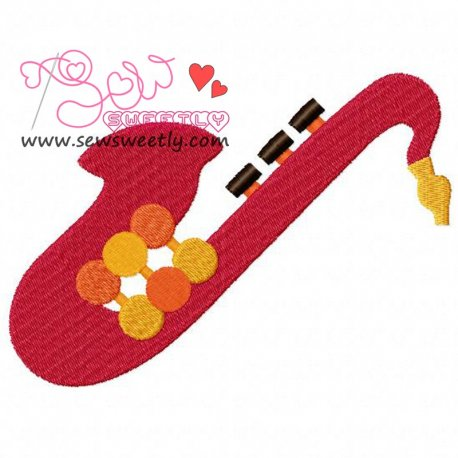 Music Instrument-1 Embroidery Design