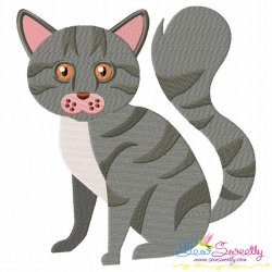 Scottish Fold Cat Embroidery Design