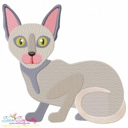 Sphynx Cat Embroidery Design