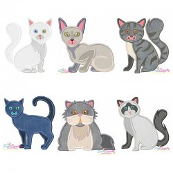 Cat Breeds Embroidery/Applique Design Bundle