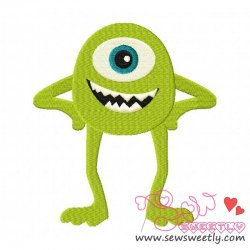 Smart Monster-1 Embroidery Design