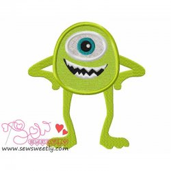 Smart Monster-1 Applique Design