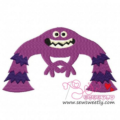 Purple Monster-1 Embroidery Design