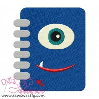 Monster Diary Embroidery Design