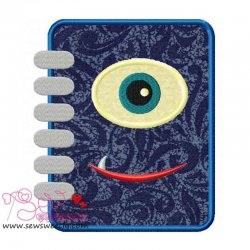 Monster Diary Applique Design