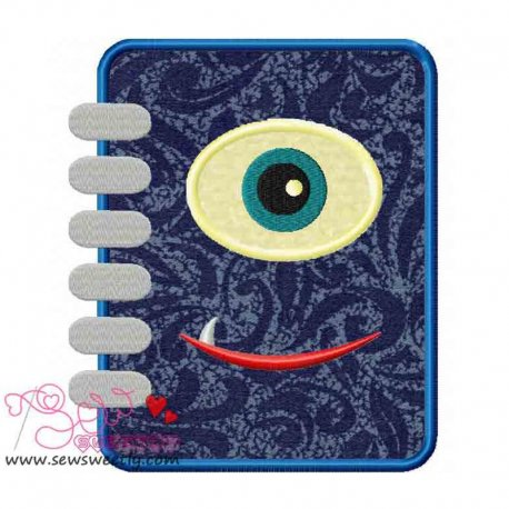 Monster Diary Applique Design Pattern- Category- Monsters And Dragons- 1