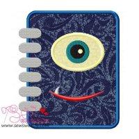 Monster Diary Applique Design