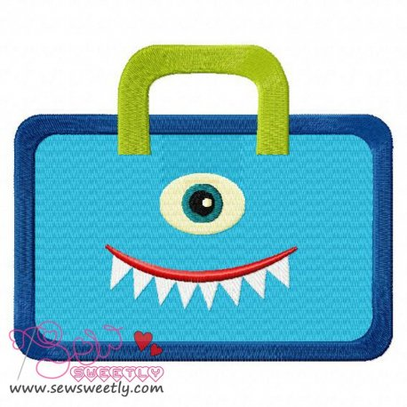 Monster Bag Embroidery Design