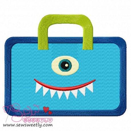 Monster Bag Embroidery Design