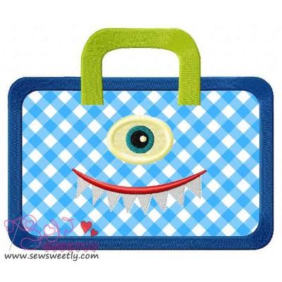 Monster Bag Applique Design