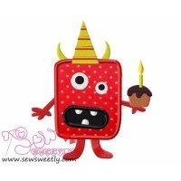 Little Monsters Party-1 Applique Design
