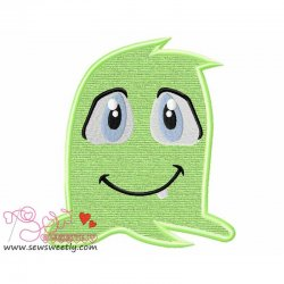 Green Monster-2 Applique Design