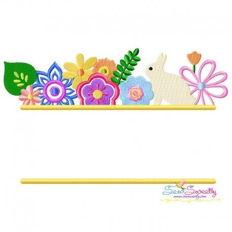 Floral Easter Frame Embroidery Design