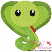 Cute Snake Embroidery Design